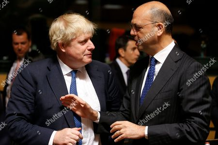 Boris Johnson and Angelino Alfano