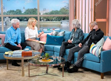Holly Willoughby and Phillip Schofield with Hannah Spearritt and boyfriend Adam Thomas