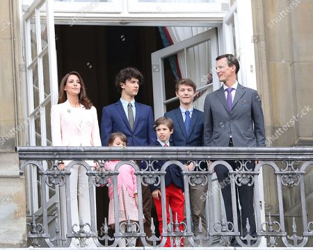 Stock Image of Princess Marie, Prince Joachim, Prince Henrik, Princess Athena, Prince Nikolai, Prince Felix