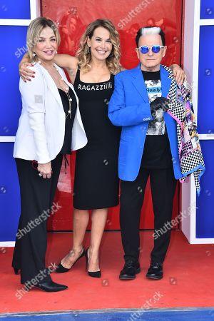 Simona Izzo, Barbara D'Urso and Cristiano Malgioglio