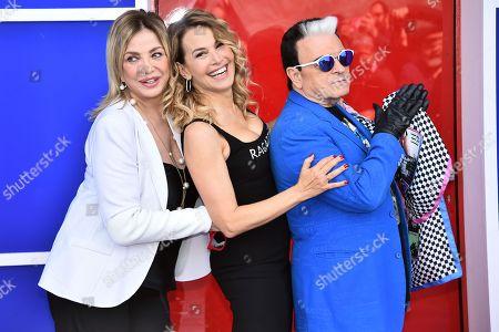 Stock Picture of Simona Izzo, Barbara D'Urso and Cristiano Malgioglio