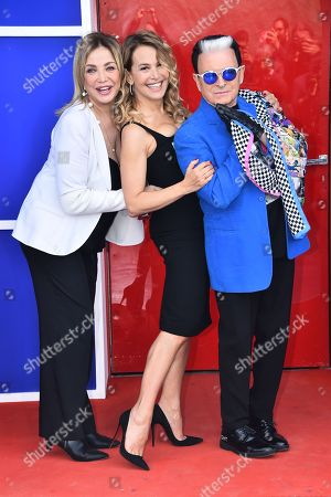 Stock Image of Simona Izzo, Barbara D'Urso and Cristiano Malgioglio