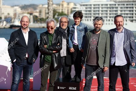 Jose Sacristan, Sandro Ballesteros and Pau Dura and the rest of the 'Formentera Lady' cast