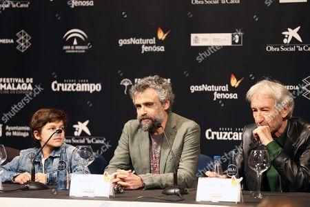 Stock Image of Jose Sacristan, Pau Dura and Sandro Ballesteros