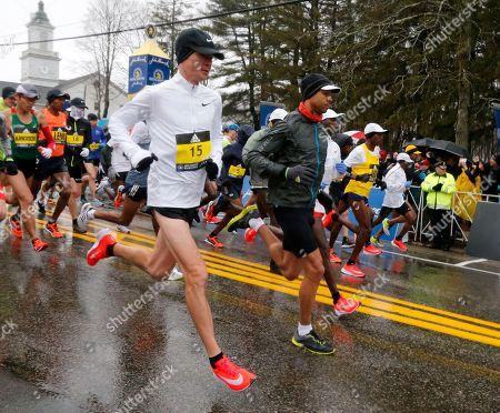 Editorial picture of Boston Marathon, Hopkinton, USA - 16 Apr 2018