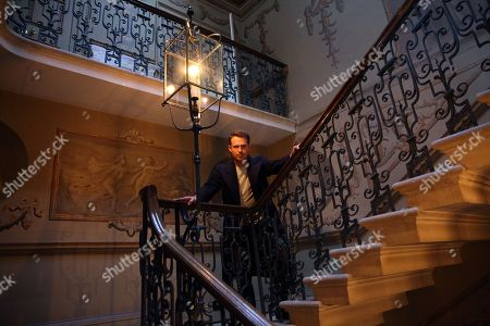 Jules Knight at Raynham Hall, Norfolk, on William Kett staircase