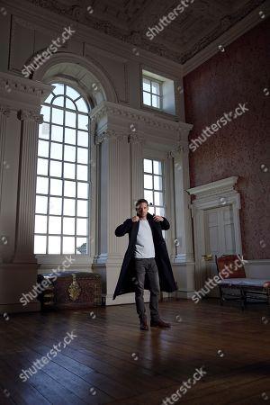 Jules Knight in low light at Raynham Hall, Norfolk in Belisarius Room
