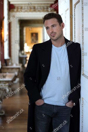 Jules Knight in Parlour at Raynham Hall, Norfolk in casual clothing