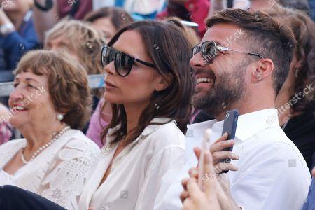 Stock Photo of Ella Longoria, Victoria Beckham, Ricky Martin