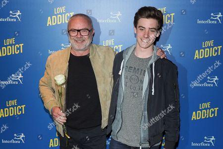 Olivier Baroux and his son Boris
