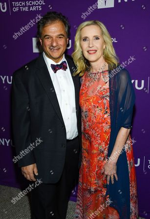 Allyson Green, Peter Terezakis. Dean of the NYU Tisch School of the Arts Allyson Green and husband Peter Terezakis attend the NYU Tisch School of the Arts gala at Capitale, in New York