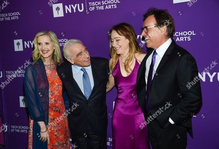 Stock Photo of Allyson Green, Martin Scorsese, Eleanor Columbus, Chris Columbus. Dean of the NYU Tisch School of the Arts Allyson Green, left, filmmaker Martin Scorsese, actress and filmmaker Eleanor Columbus and filmmaker Chris Columbus attend the NYU Tisch School of the Arts gala at Capitale, in New York