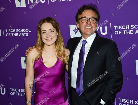 Eleanor Columbus, Chris Columbus. Filmmakers and honorees Chris Columbus and daughter Eleanor Columbus attend the NYU Tisch School of the Arts gala at Capitale, in New York