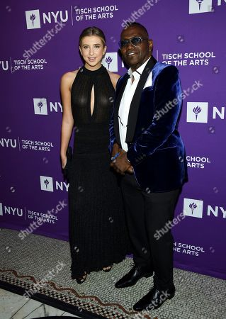 DJ Pebbles, Randy Jackson. Music and television personality Randy Jackson, right, and DJ Pebbles attend the NYU Tisch School of the Arts gala at Capitale, in New York
