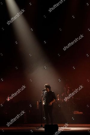 Editorial photo of Alessandro Mannarino in concert at the Teatro Augusteao, Naples, Italy - 16 Apr 2018