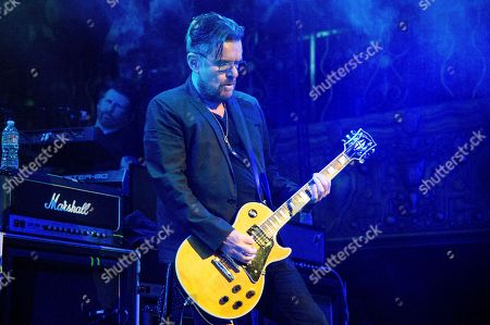 """Billy Duffy performs at the """"Above Ground"""" Benefit Concert at Belasco Theater, in Los Angeles"""