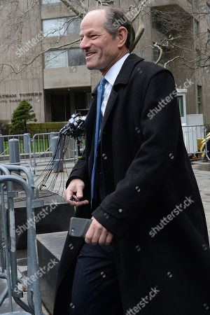Editorial image of Eliot Spitzer out and about, New York, USA - 16 Apr 2018