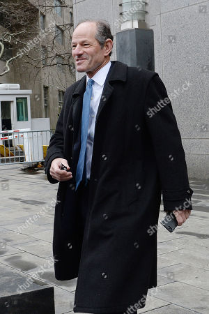 Editorial picture of Eliot Spitzer out and about, New York, USA - 16 Apr 2018