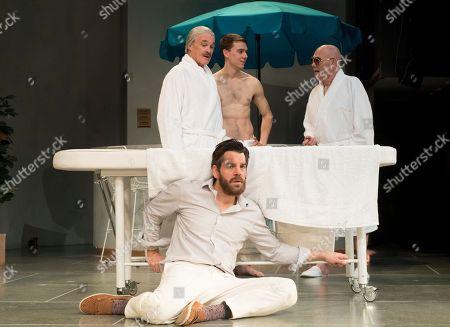 David Rintoul as Leonato, John Hopkins as Benedick, Calam Lynch as Claudio, Peter McGuinness as Don Pedro