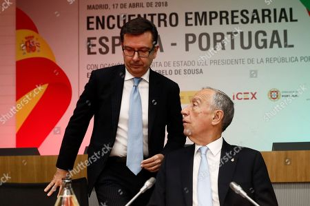 Roman Escolano and Marcelo Rebelo de Sousa