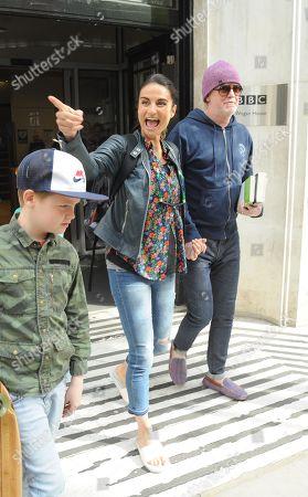 Stock Image of Chris Evans, Natasha Evans, son Noah