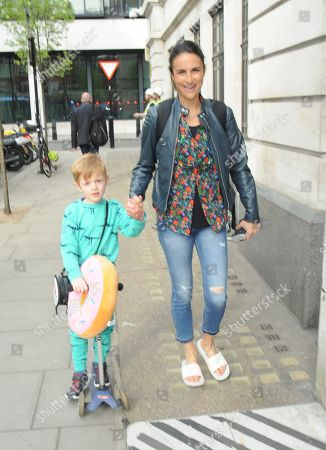 Editorial photo of Chris Evans and Natasha Shishmanian out and about, London, UK - 17 Apr 2018