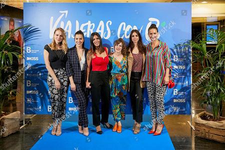 Samantha Vallejo-Najera, Marta Goikoetxea, Esmeralda Moya, Roko, Lorena Castell and Elena Furiase