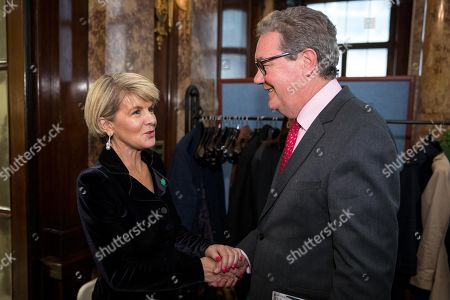 Australian Foreign Minister Julie Bishop and Australian High Commissioner to the UK Alexander Downer