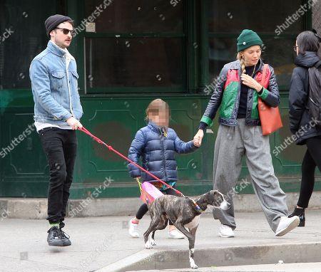 Sienna Miller, Tom Sturridge and Marlowe Ottoline Layng Sturridge