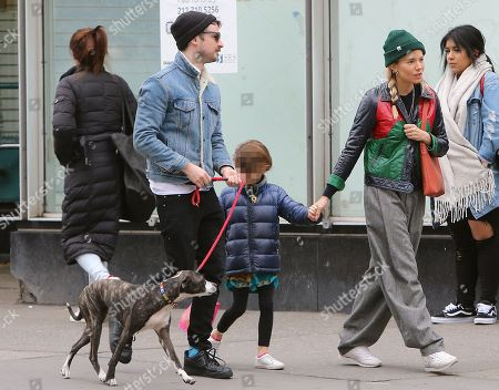 Editorial image of Sienna Miller and Tom Sturridge out and about, New York, USA - 17 Apr 2018