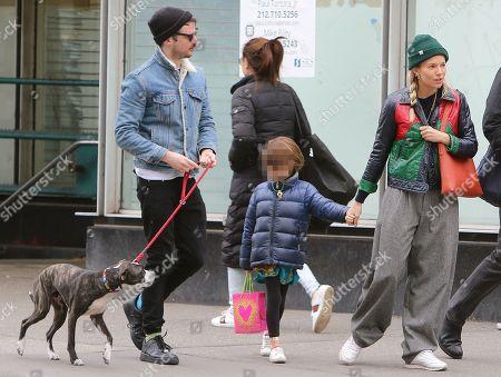 Stock Picture of Sienna Miller, Tom Sturridge and Marlowe Ottoline Layng Sturridge