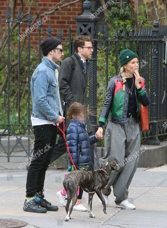 Stock Image of Sienna Miller, Tom Sturridge and Marlowe Ottoline Layng Sturridge