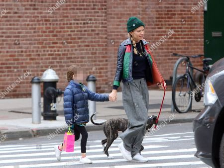Editorial picture of Sienna Miller and Tom Sturridge out and about, New York, USA - 17 Apr 2018