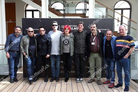Stock Photo of Regina Alvarez Lorenzo, Jose Antonio Hergueta, Javier Ojeda and music group 'Danza Invisible'