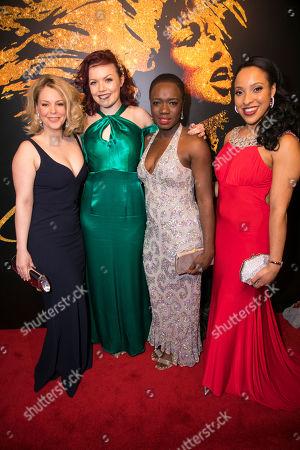 Francesca Jackson (Rhonda Graam), Kayleigh McKnight (Ensemble), Madeline Appiah (Zelma Bullock) and Jenny Fitzpatrick (Alternate Tina)