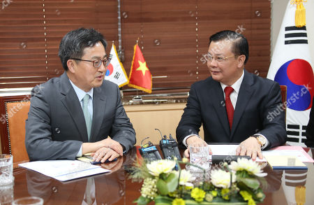 Stock Image of Kim Dong-yeon and Dinh Tien Dung