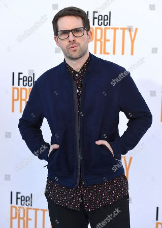 """Stock Image of Ian Hecox arrives at the world premiere of """"I Feel Pretty"""" at the Westwood Village Theater, in Los Angeles"""