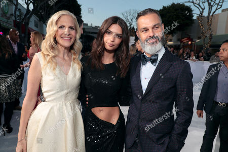 Stock Photo of Abby Kohn, Writer/Director, Emily Ratajkowski, Marc Silverstein, Writer/Director,