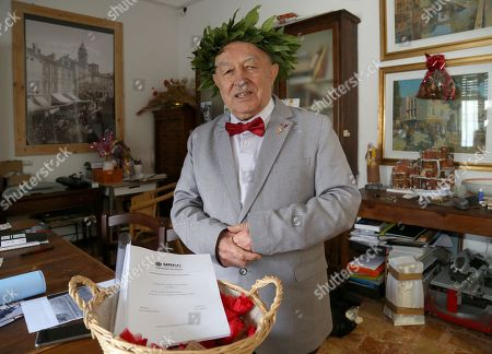 Editorial picture of Italo Spinelli earns philosophy degree aged 82, Modena, Italy - 14 Apr 2018