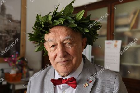 Editorial photo of Italo Spinelli earns philosophy degree aged 82, Modena, Italy - 14 Apr 2018