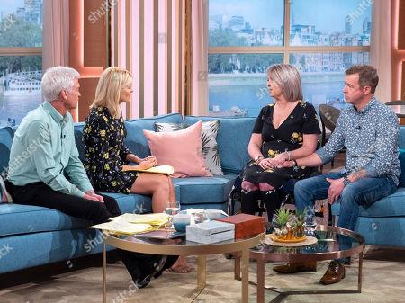 Phillip Schofield and Holly Willoughby with Benita Lambert and Matt Lambert