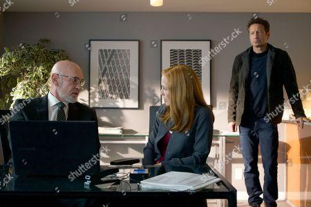 Stock Picture of Mitch Pileggi, Gillian Anderson, David Duchovny
