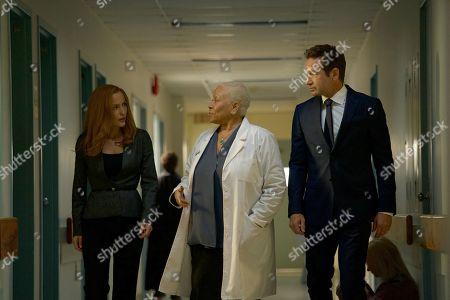 Gillian Anderson, Denise Dowse, David Duchovny