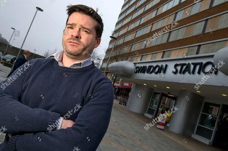 Martin Costello outside Swindon station.