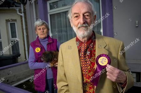 Editorial photo of UKIP candidates, Swindon, Wiltshire, UK - 12 Apr 2018
