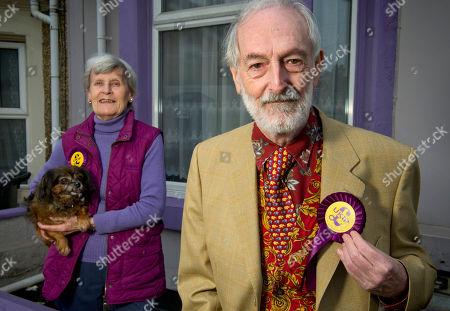 Editorial image of UKIP candidates, Swindon, Wiltshire, UK - 12 Apr 2018