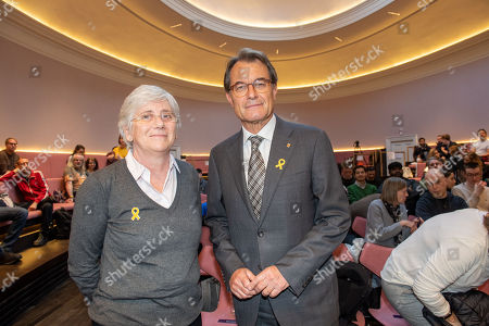 Former Catalan president Artur Mas i Gavarro and Clara Ponsati