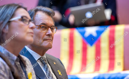 Editorial image of Former Catalan leaders at the Edinburgh University Students' Association, Scotland - 17 Apr 2018