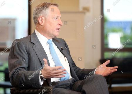 Editorial photo of Bartiromo Bush Interview, Dallas, USA - 18 Apr 2018