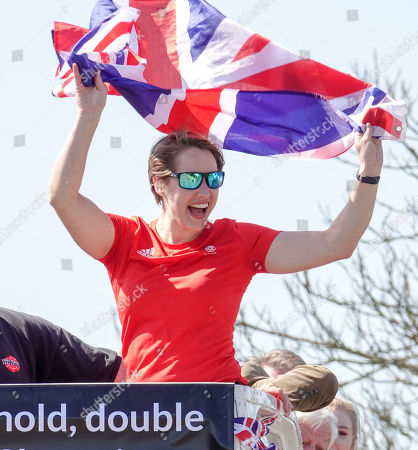 Lizzy Yarnold in her home village of West Kingstown